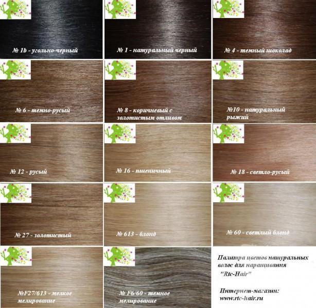 Оттенки натуральных волос на заколках