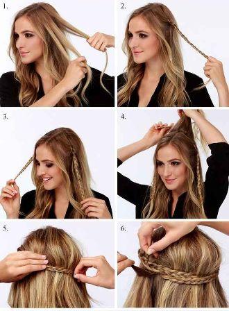 прически на каждый день, коса из 3 прядей