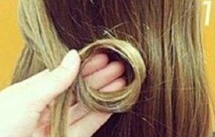 как сделать узел  из волос
