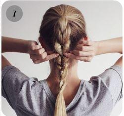 вариант  плетения косы с резинками