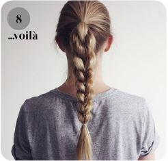 красивая коса с резинками