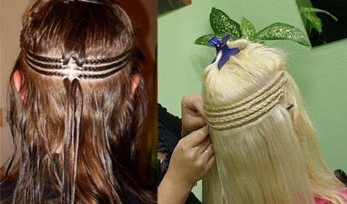 Волосы после наращивания волос косичками