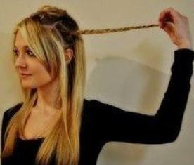 прическа с ободком из волос
