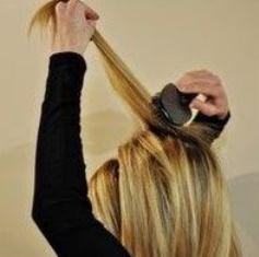 идея прически  ободок для волос
