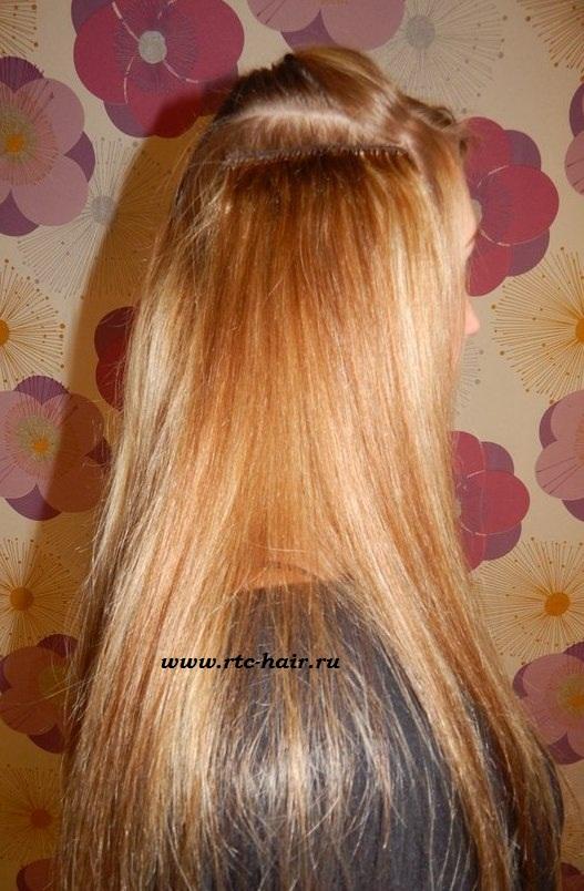 Фото как прикреплять волосы на заколках