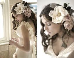 искусственные цветы для свадебной прически
