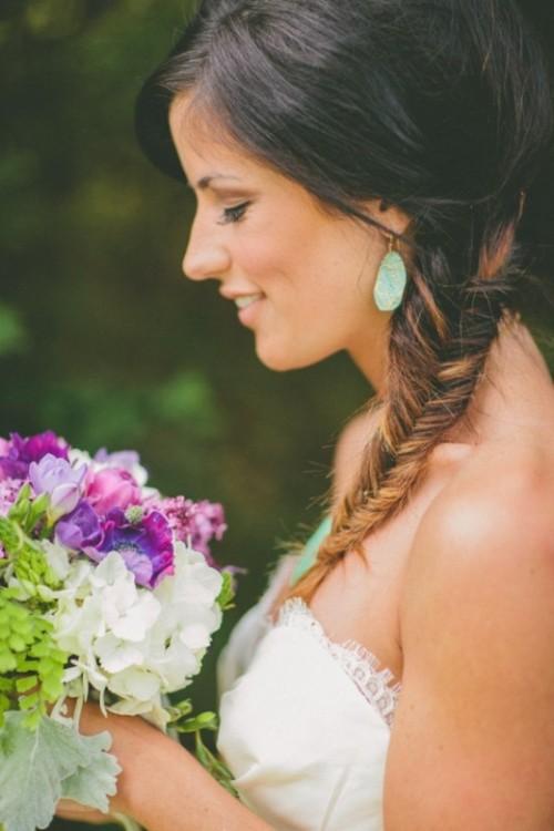 прическа рыбий хвост на свадьбу, фото, как плести, свадебные прически