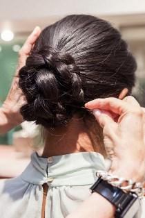 прическа пучок из кос, с косой сделать самостоятельно в домашних условиях фото, виде