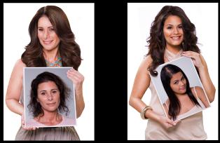 наращивание волос капсулами фото до и после