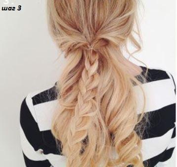 прическа с накладыми волосами на  заколках