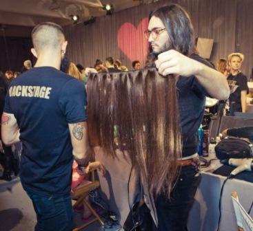 накладные волосы на заколках для шоу Victoria's Secret